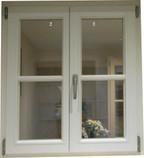 Holzfenster Weiß